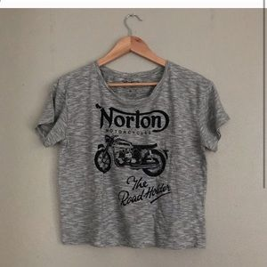 Lucky Brand Graphic Tee- slightly cropped